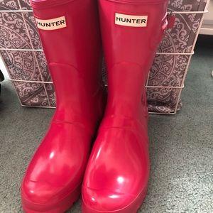 Pink Hunter Rain Boots (short)